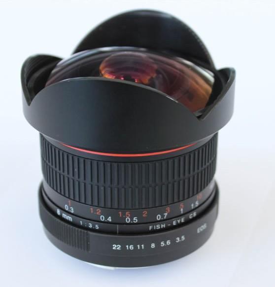 Kelda 8mm f3.5-22 Manual Focus Aspherical Fish-eye Lens for APS-C DSLR - CANON